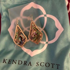 Kendra Scott Alex Earrings in Gold Abalone